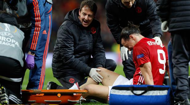 Zlatan Ibrahimovic suffered a nasty looking injury against Anderlecht
