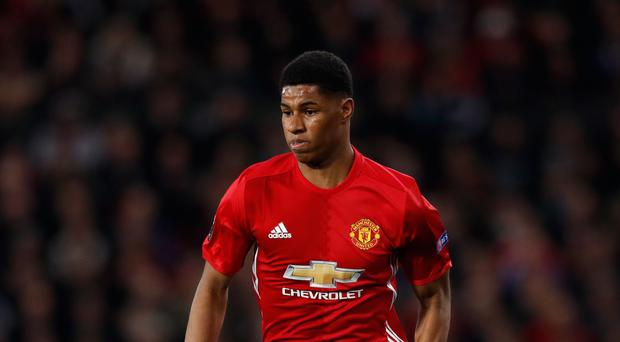 Jose Mourinho would rather Marcus Rashford, pictured, did not represent England Under-21s