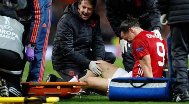 Manchester United's Zlatan Ibrahimovic is out until the new year, according to reports