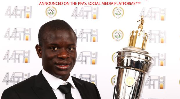 Chelsea midfielder N'Golo Kante has won the PFA Players' Player of the Year award