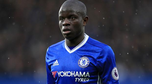 N'Golo Kante was named player of the year at the PFA awards