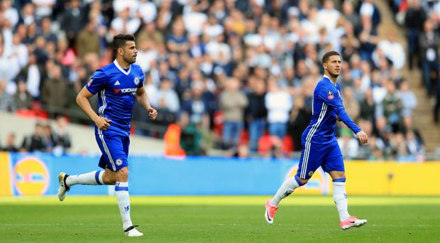 Eden Hazard, right, made a decisive impact as a substitute as Chelsea beat Tottenham