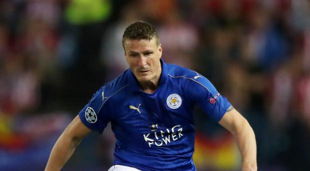 Leicester's Robert Huth was unlucky against Arsenal.
