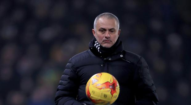 Manchester United manager Jose Mourinho joked about picking himself against Swansea
