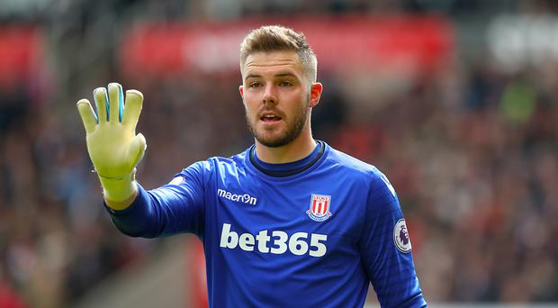 Jack Butland, pictured, kept a clean sheet in front of England manager Gareth Southgate