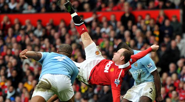 Wayne Rooney's goal against Manchester City is one of the most memorable in the Premier League