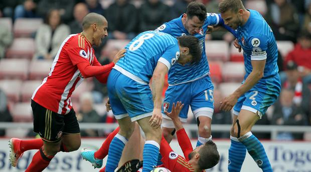 Sunderland and Bournemouth have been charged with failing to control their players after heated exchanges following a challenge by Fabio Borini