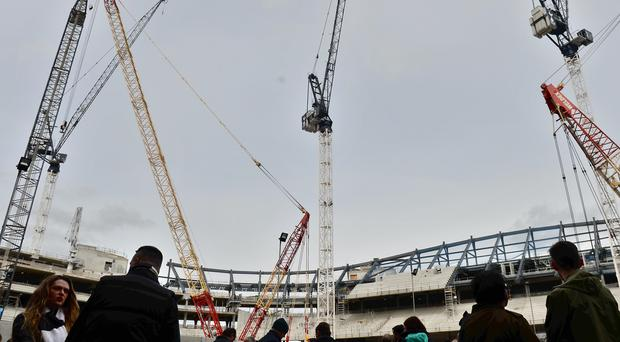 Tottenham's new stadium is currently being built around their White Hart Lane home