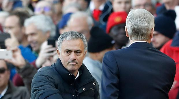 Jose Mourinho (left) and Arsene Wenger have not always shook hands