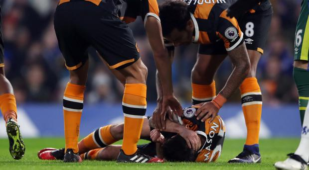 Ryan Mason fractured his skull at Chelsea in January