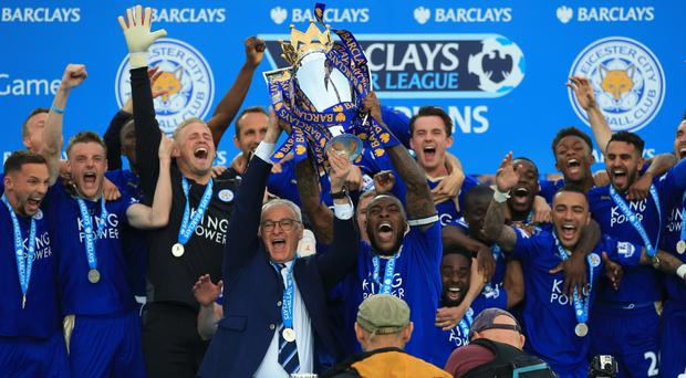Leicester have returned the Premier League trophy after last season's shock win