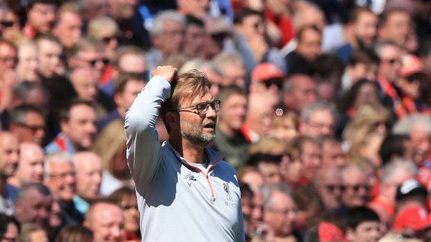 Jurgen Klopp said Liverpool's draw with Southampton was