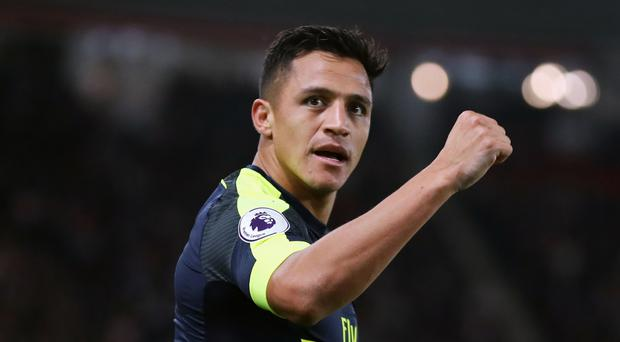 Arsenal's Alexis Sanchez opened the scoring at St Mary's