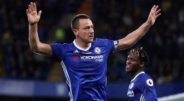 John Terry scored for the 17th Premier League season in succession