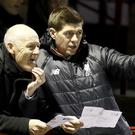 Steven Gerrard, right, is a youth coach at Liverpool