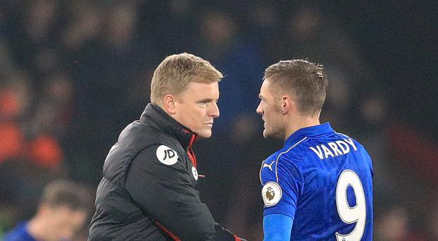 Bournemouth manager Eddie Howe (left) has been impressed by the way Leicester have responded under caretaker boss Craig Shakespeare