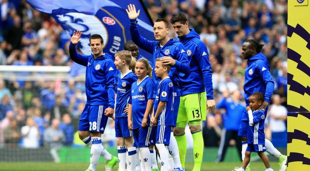 John Terry applauds the fans before the game against Sunderland