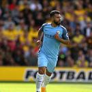 Sergio Aguero scored twice in the 5-0 win at Watford