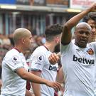 Andre Ayew scored the winner as West Ham ended the season with victory at Burnley