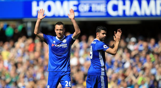 John Terry waves goodbye to the Chelsea faithful