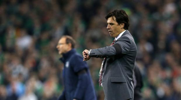 Chris Coleman says he is focused only on Wales as speculation continues over who will be the next manager at Crystal Palace