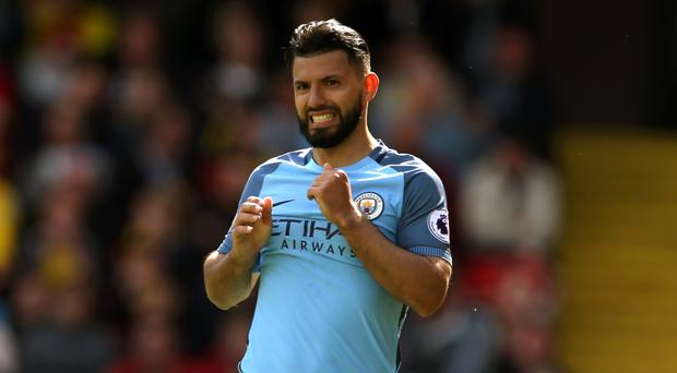 Sergio Aguero's, pictured, future at Manchester City has never been in doubt, says chairman Khaldoon Al Mubarak