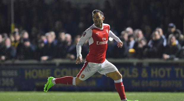 Lucas Perez tells Arsene Wenger he wants out