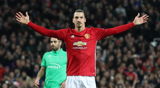 Manchester United's Zlatan Ibrahimovic is out of contract
