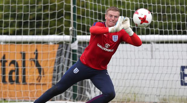England Under-21 goalkeeper Jordan Pickford was relegated from the Premier League with Sunderland last season.