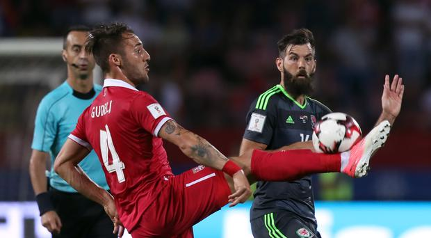 Joe Ledley (right) admits he could move abroad this summer after being released by Crystal Palace.