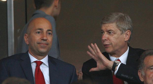 Ivan Gazidis (left) and Arsene Wenger have conducted a thorough review of Arsenal's disappointing season