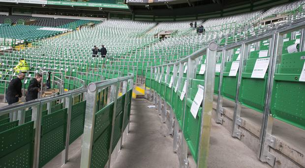 Celtic's new safe standing area for over 2000 fans