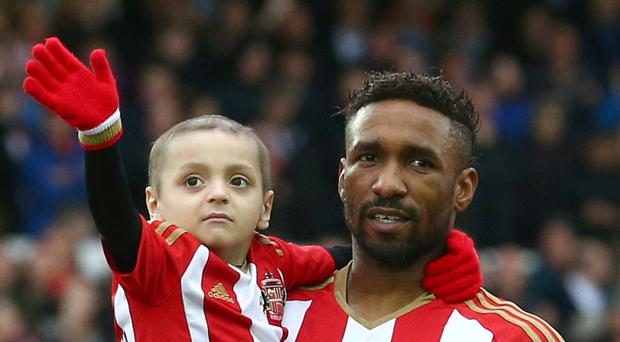 Jermain Defoe has built up a special bond with Bradley Lowery