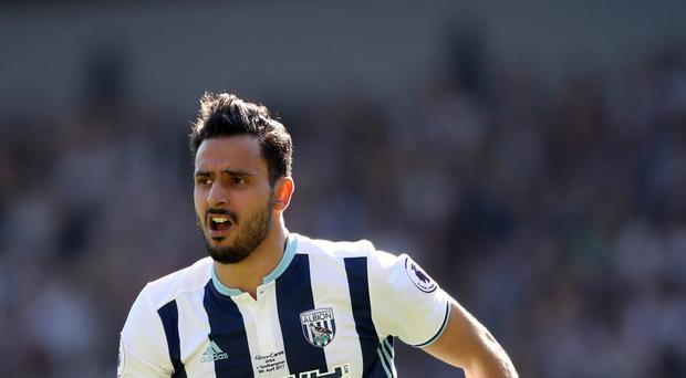 West Brom midfielder Nacer Chadli joined from Tottenham last summer.