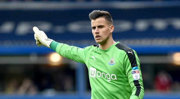 Newcastle goalkeeper Karl Darlow is a wanted man