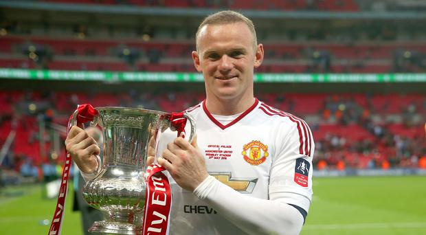 Wayne Rooney won 13 trophies with Manchester United