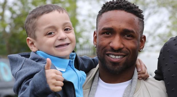 England striker Jermain Defoe struck up a close friendship with Bradley Lowery during his time at Sunderland