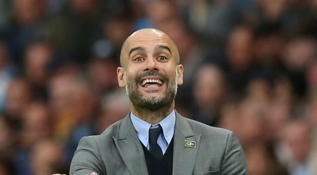 Pep Guardiola, pictured, has brought Brazil under-20 midfielder Douglas Luiz to Manchester City