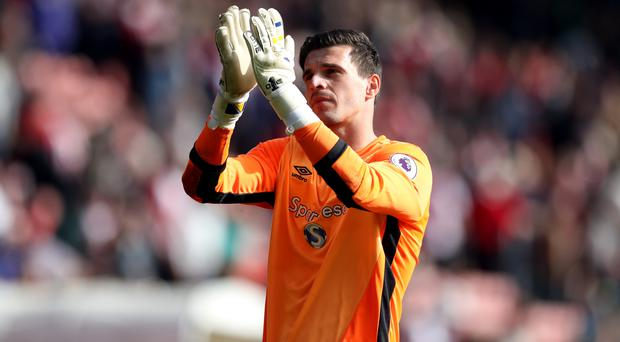Goalkeeper Eldin Jakupovic has become Leicester's third summer signing