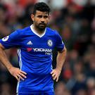 Diego Costa, pictured, was told his time was up at Chelsea in January according to manager Antonio Conte