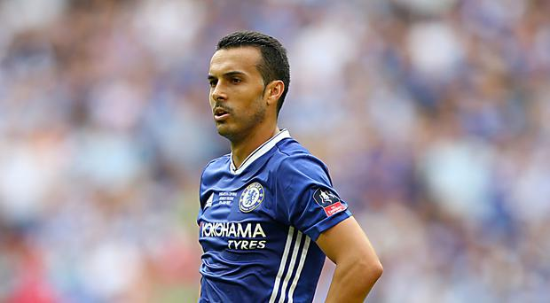 Pedro was injured during the first half against Arsenal
