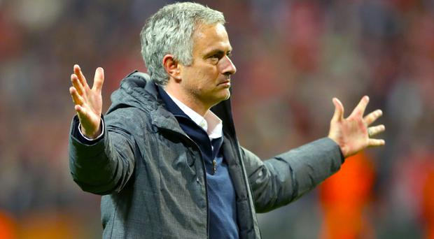 Jose Mourinho won three trophies during his first season in charge of United