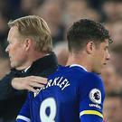 Ross Barkley, right, looks set to leave Everton after talks with boss Ronald Koeman