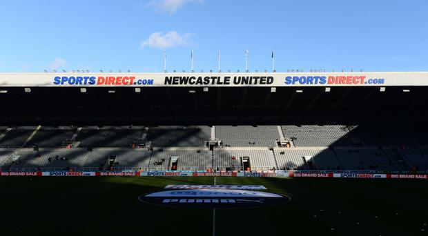 St James' Park was raided in April by HMRC