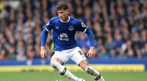 Ross Barkley on Everton duty last season