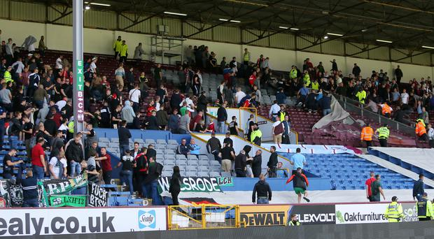 Saturday's pre-season friendly at Turf Moor was abandoned due to crowd trouble