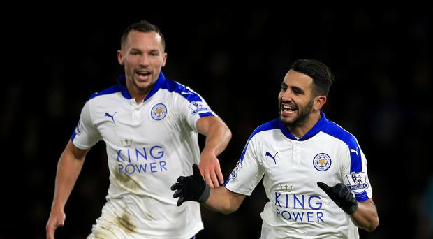 Riyad Mahrez (right) and Danny Drinkwater have been linked with moves away from Leicester recently