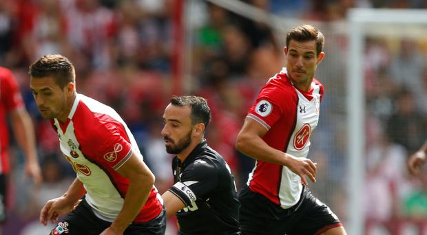 Dusan Tadic, pictured left, was unable to find the breakthrough for Saints