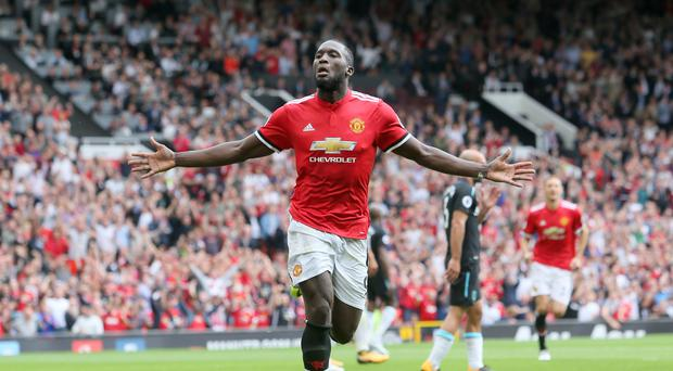 Romelu Lukaku scored twice on his Premier League debut for Manchester United