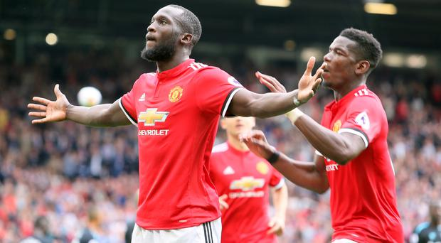 Romelu Lukaku (left) scored twice, but Jose Mourinho praised the Manchester United striker's all-round contribution to the opening win.